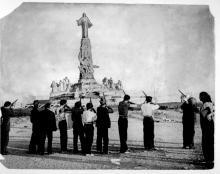 Destruction Monument Sacred Heart, 1936, Spain